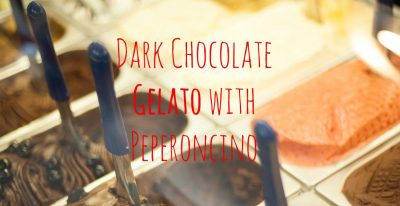 Dark Chocolate Gelato with Peperoncino and Cinnamon