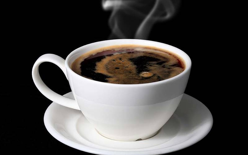 An Americano coffee in Italy