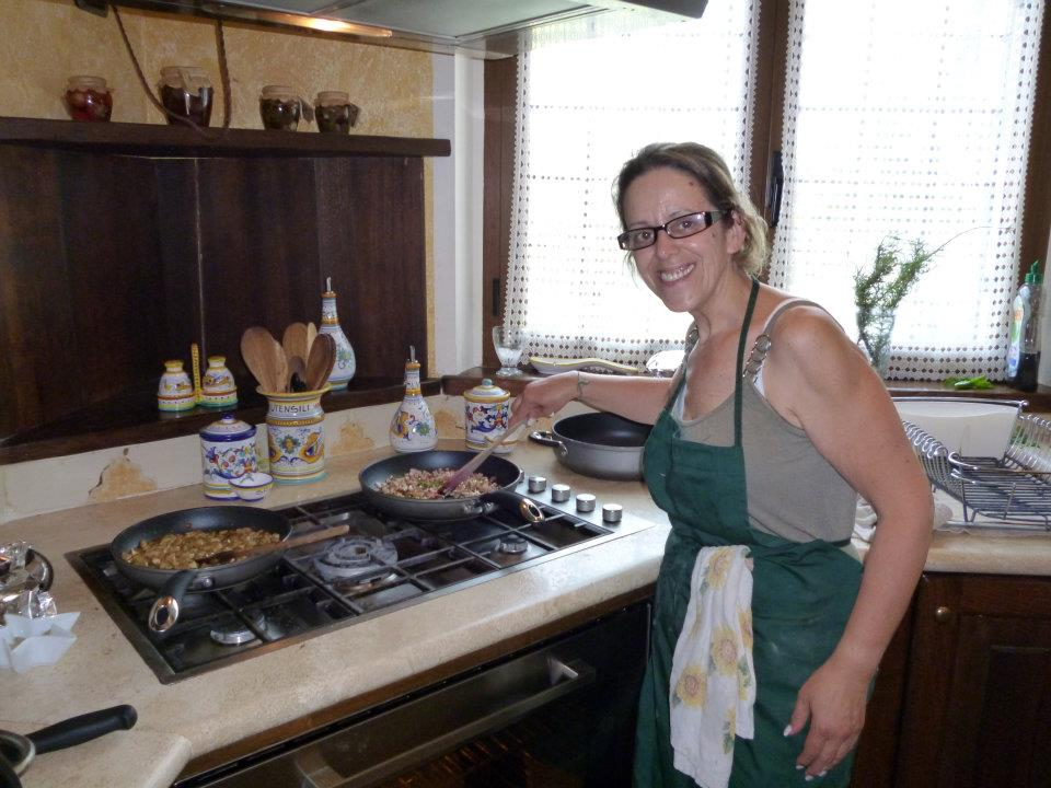 Carla in the Kitchen at the Villa on a Thursday